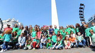 Pelirojos argentinos festejaron su día en el Obelisco