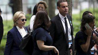 Hillary Clinton se sintió mal y debió retirarse de la ceremonia por el 11 de septiembre