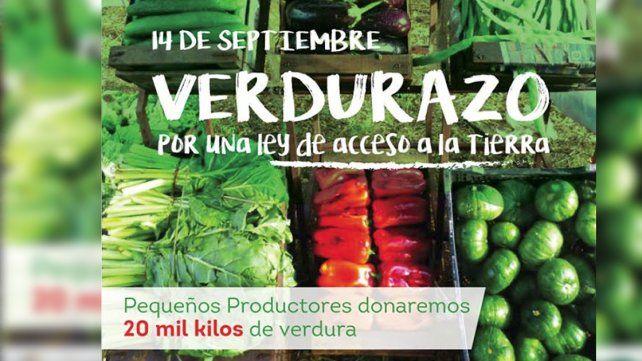 #Verdurazo Productores regalarán 20 mil kilos de verduras este miércoles en Plaza de Mayo