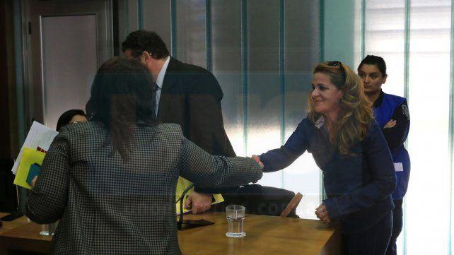 Tranquila. Ana María se expresó conforme al acuerdo con la fiscal.