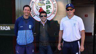 Andrés Gamarci (al medio) junto a parte del Cuerpo Técnico que trabajan en la captación de talentos en todo el país.