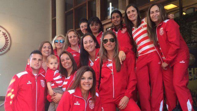 Las chicas de Talleres Rojo que formarán parte de la competencia en Misiones.