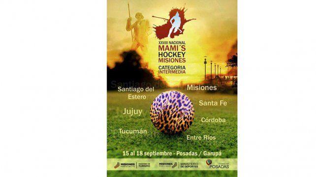 Afiche oficial. La competencia contará con equipos de todo el país y ya es un clásico para las amantes del hockey.