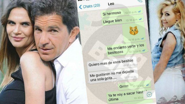 Casi porno: los nuevos chats hot entre el novio de Granata y su amante