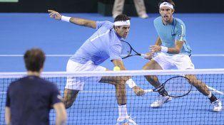 Argentina perdió el dobles ante Gran Bretaña pero lidera la serie 2-1