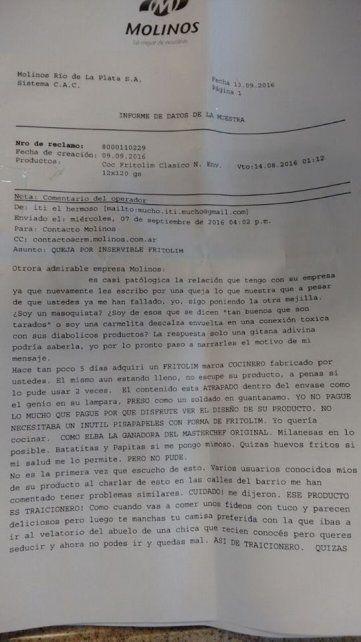 La queja de un cliente que se hizo viral: Quiero comer una milanesa en paz