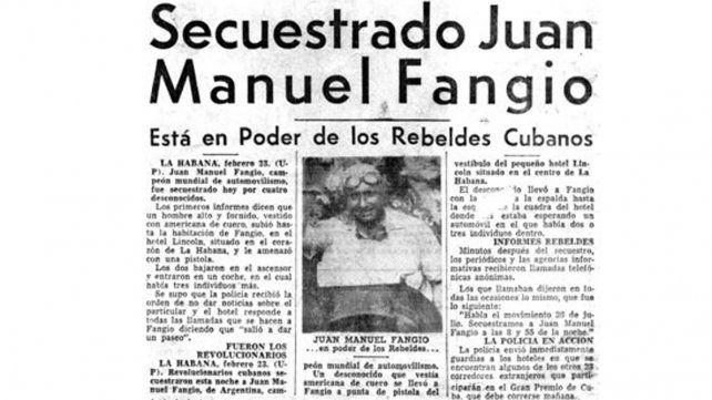 Repercusión. En el mundo se dio cuenta que Fangio había sido privado de su libertad en Cuba.