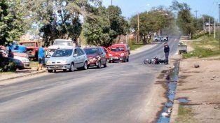 Al menos un herido en choque múltiple en Paraná