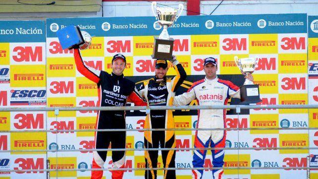 El podio de la segunda final con Agustín Canapino