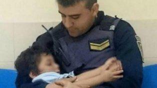 Río Cuarto: Volvieron a encontrar en la calle al niño que habían cuidado dos policías