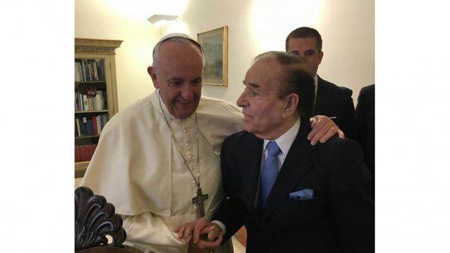 Carlos Menem: Tuve una reunión excelente con el Papa Francisco