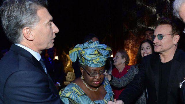 Macri, en una charla de estrellas: Clinton, Bono, Bon Jovi y Andrea Bocelli