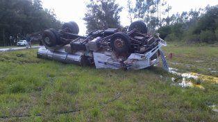 Un giro en U causó un choque múltiple en la ruta 130