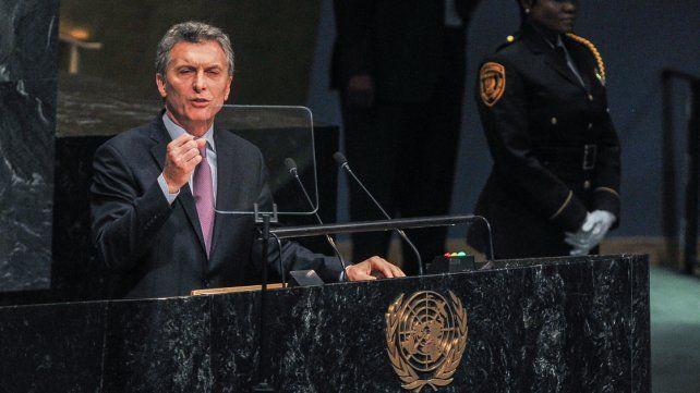 Macri habló en la ONU y dijo que Argentina quiere ser parte de la agenda global