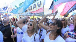 Movilización. Los maestros se movilizarán hoy en Paraná.