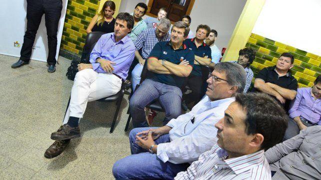 De frente. Marcelo Faggi y Daniel Carbonell
