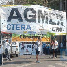 Agmer fijó un paro de 24 horas para el miércoles 5 de octubre