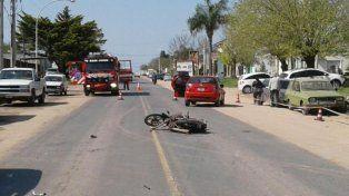 Una niña que iba con su padre en moto falleció tras un accidente