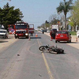 una nina que iba con su padre en moto fallecio tras un accidente