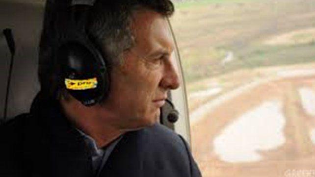 Susto de Macri en el helicóptero cuando aterrizaba en Olivos
