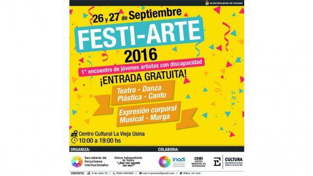 Lanzan el 1° Encuentro de Jóvenes Artistas con Discapacidad