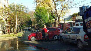 accidente de transito en el centro de parana