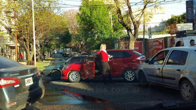Accidente de tránsito en el centro de Paraná