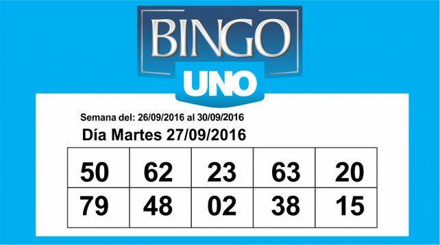 Estos son los números del Bingo UNO