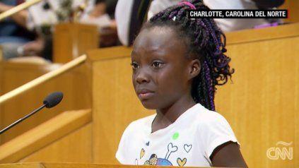 Un niña conmovió a un tribunal al hablar sobre la muerte de ciudadanos negros