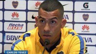 Carlos Tevez en conferencia de prensa antes del encuentro contra Lanús por Copa Argentina.