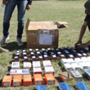 secuestraron un contrabando de electronica por 1.200.000 pesos en la ruta nacional 14