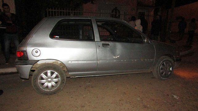 El Renault Clío secuestrado.