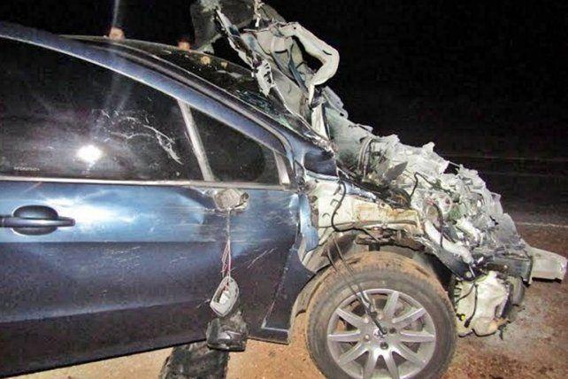 Un animal suelto en la Autovía Artigas provocó un importante accidente