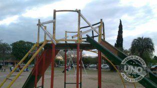 Juegos en mal estado y peligrosos en Le Petit Pisant