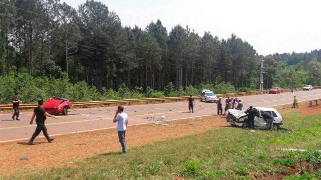 Un muerto y seis heridos tras un choque en la ruta nacional 12