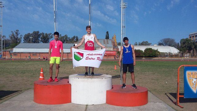 Primero. Pablo Zaffaroni Unrein de Concepción del Uruguay fue uno de los atletas que se consagró campeón nacional.