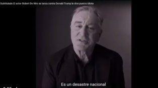 Robert de Niro explotó contra Donald Trump, es una vergüenza para EE. UU.