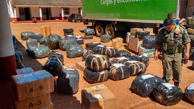 Decomisaron un millonario contrabando en la ruta nacional 14