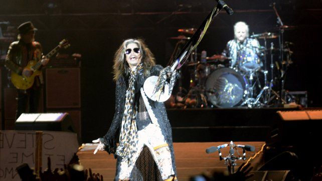 Steven Tyler, líder de Aerosmith, de paseo por Buenos Aires