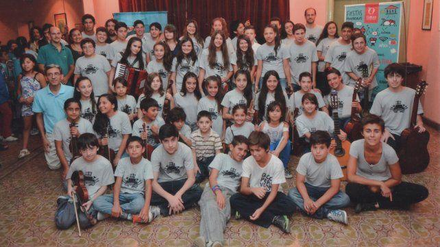 Formación. Está integrada por alrededor de 40 niños y jóvenes.