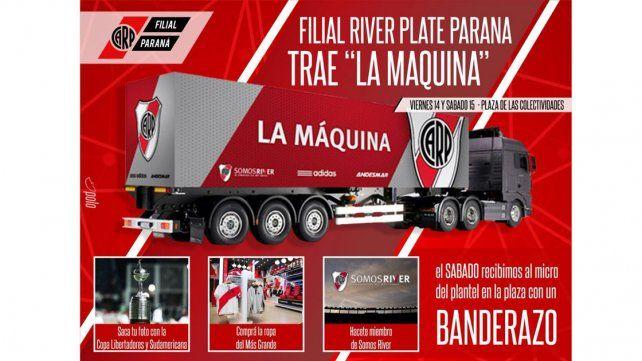 Afiche oficial. El programa de actividades del camión que estará recorriendo Paraná desde mañana.