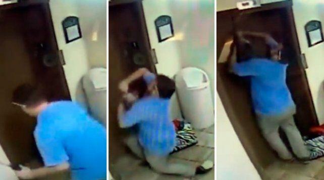 Un portero evitó que un perro fuera rebanado por la puerta de un ascensor