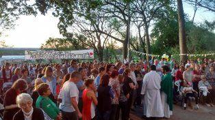 Tras la suspensión por la lluvia, el santuario de La Loma recibió a los fieles