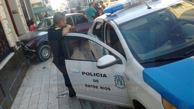 Fuerte choque en calle España e Italia