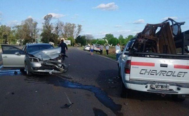 Tres heridos en violento accidente en la ruta nacional 18
