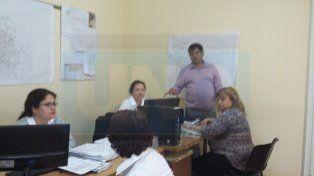 Parte del equipo de trabajo de la dirección que funciona en calle Méjico 453