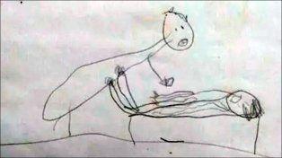 Una nena revela en un dibujo el abuso sexual de un pastor