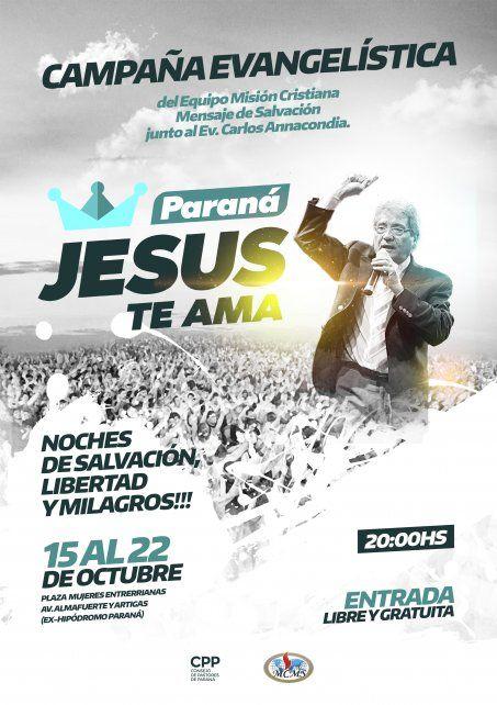 Se realiza en Paraná la campaña evangelística Jesús te ama