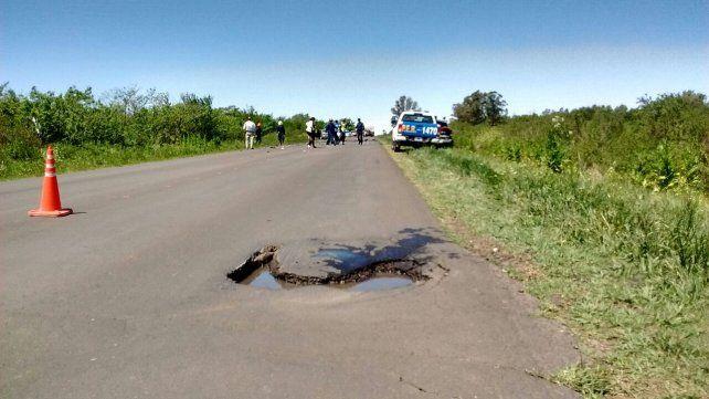 Grave choque frontal en la ruta 20 debido al mal estado del asfalto