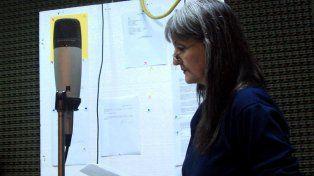 Locutora. Inés Ghiggi puso su voz a Espejos